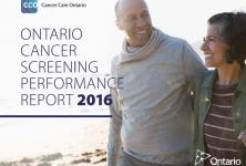 Cover of the Ontario Cancer Screening Performance Report 2016