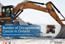 Photo of the cover of the Burden of Occupational Cancer in Ontario report