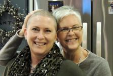A photo of Sue Adair and her sister, Jane-Ann Parker
